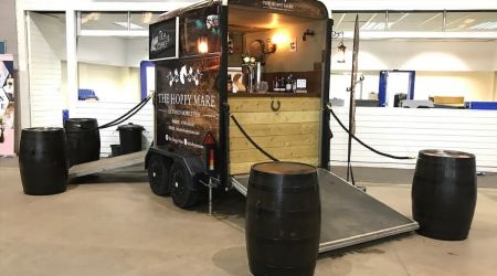 The Hoppy Mare mobile bar Taunton Somerset at Bath and West Showground wedding showcase event coporate