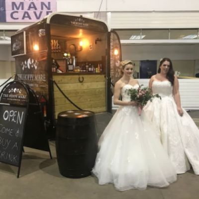 The Hoppy Mare mobile pub from Taunton Somerset at Bath and West Showground wedding fayre